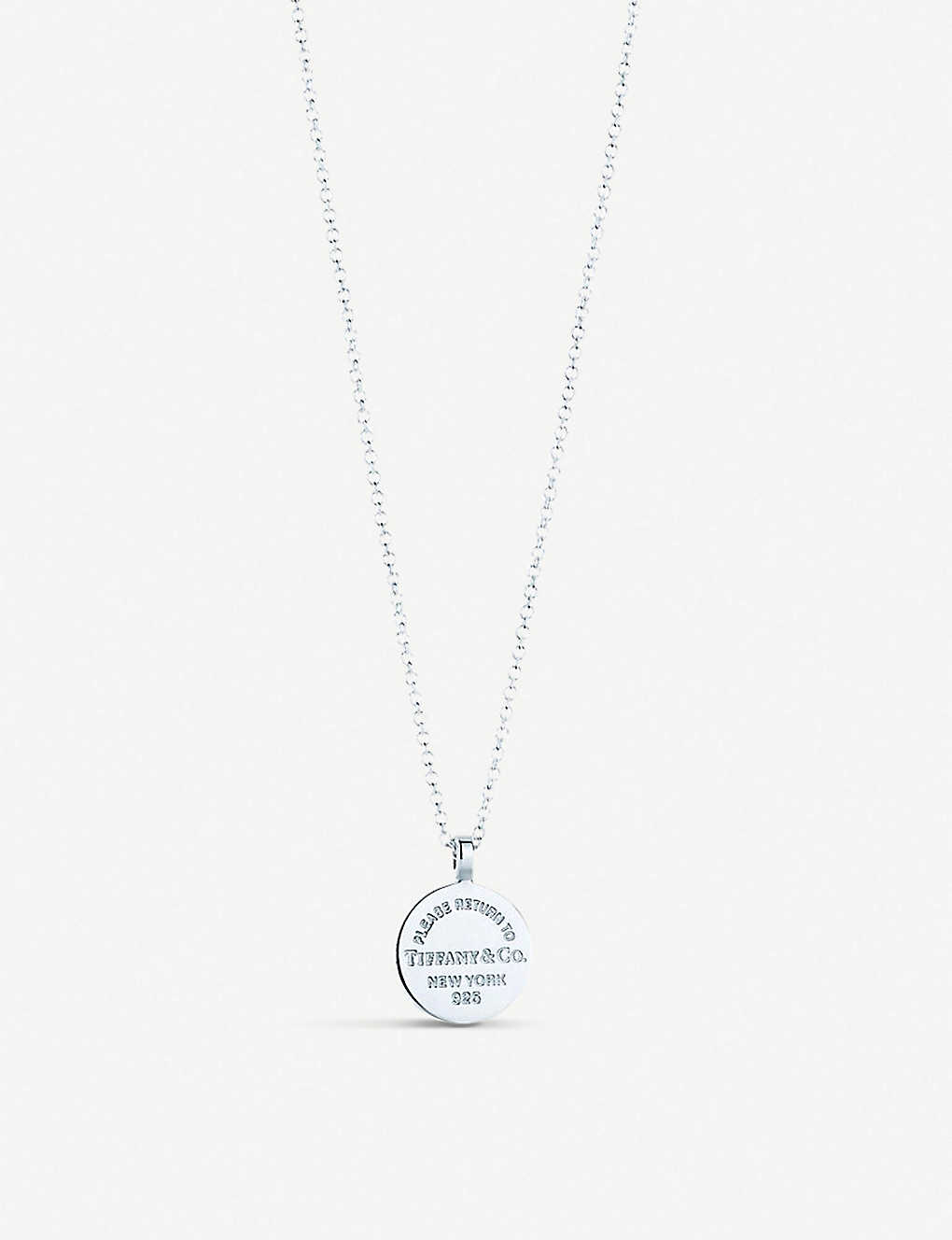 e5dbe44a1 TIFFANY & CO - Return to Tiffany Circle Tag sterling silver pendant ...