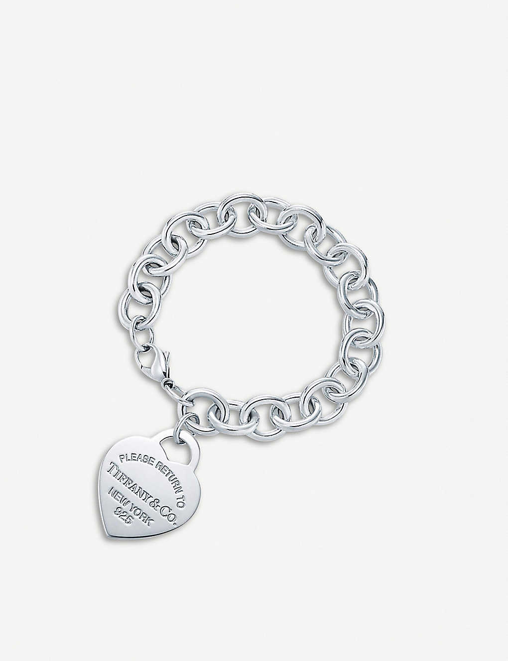 19ed51e93 TIFFANY & CO - Return to Tiffany™ Sterling Silver Heart Tag Bracelet ...