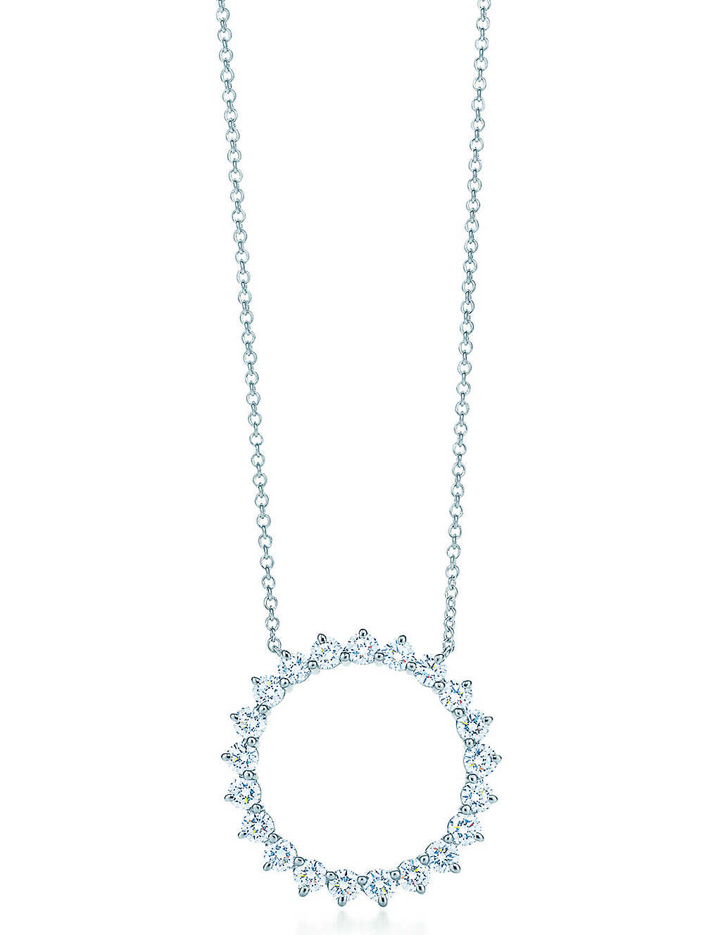 1a5af113a TIFFANY & CO - Open circle pendant, diamonds, platinum | Selfridges.com