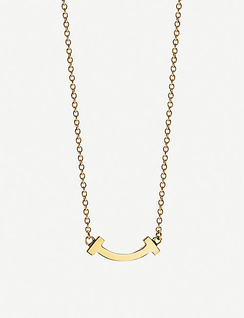 TIFFANY & CO Tiffany T Smile 18ct yellow-gold necklace