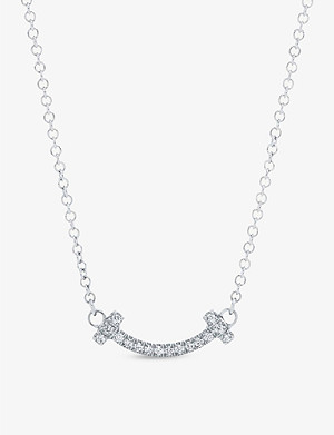 TIFFANY & CO Tiffany T Smile 18ct white-gold and diamond necklace