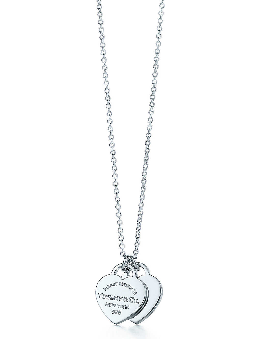 bfe8c8647 Return to Tiffany mini double heart tag pendant in sterling silver ...