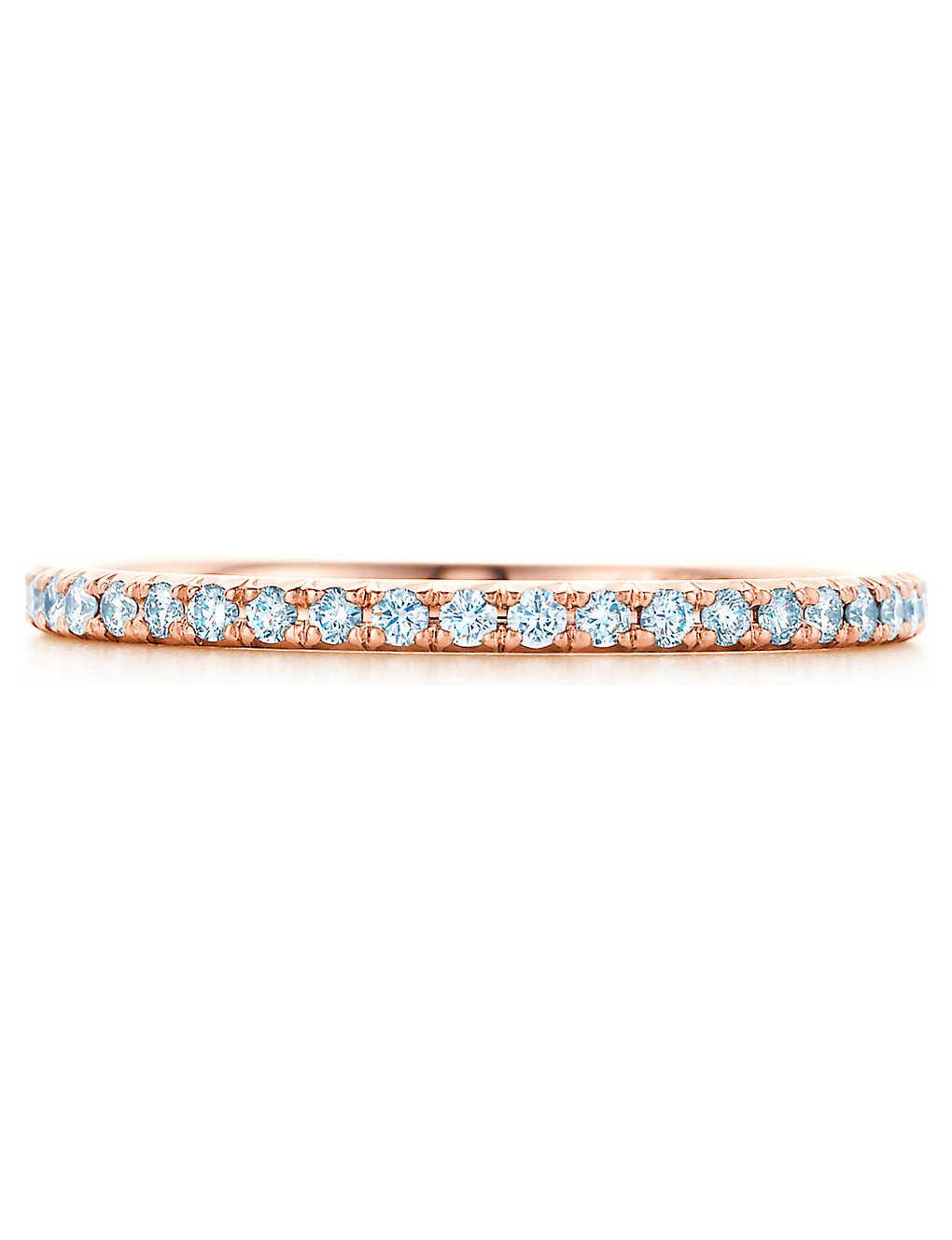 3dda28474 TIFFANY & CO - Tiffany Metro ring in 18k rose gold with diamonds ...