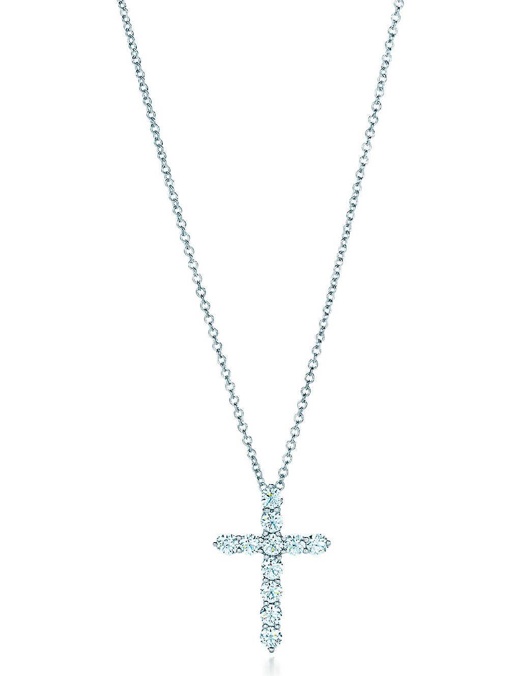 71ede83e0 TIFFANY & CO - Cross pendant in platinum with diamonds, medium ...
