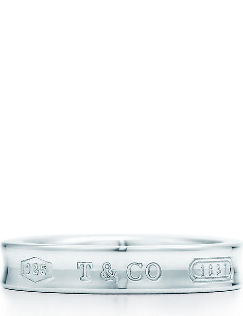 162a73f100330 TIFFANY & CO - Tiffany 1837 ring in sterling silver | Selfridges.com