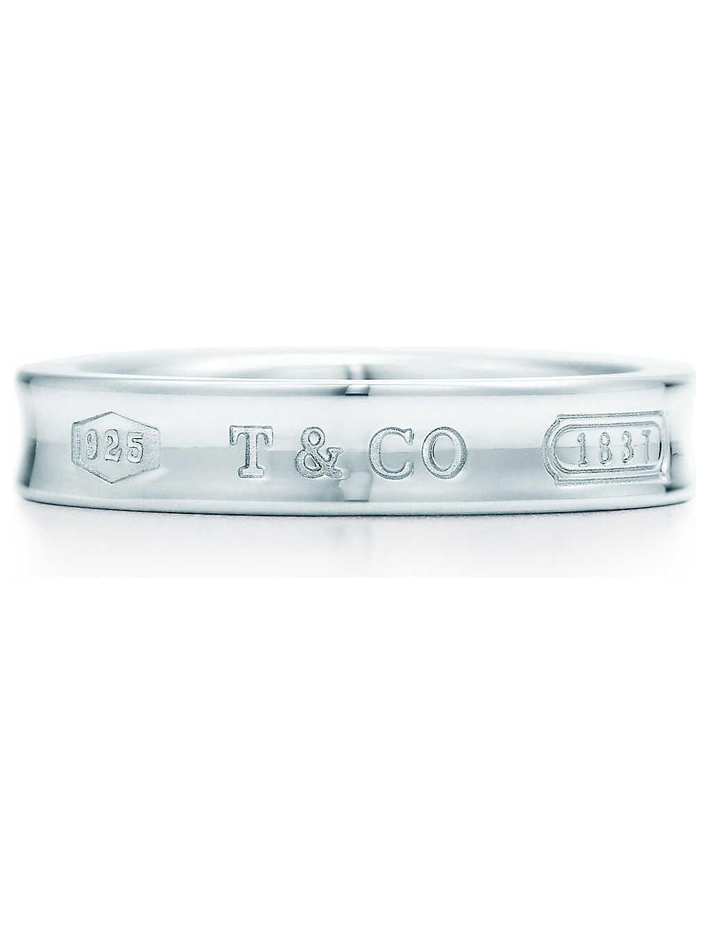 ec774cf81 TIFFANY & CO - Tiffany 1837 ring in sterling silver | Selfridges.com