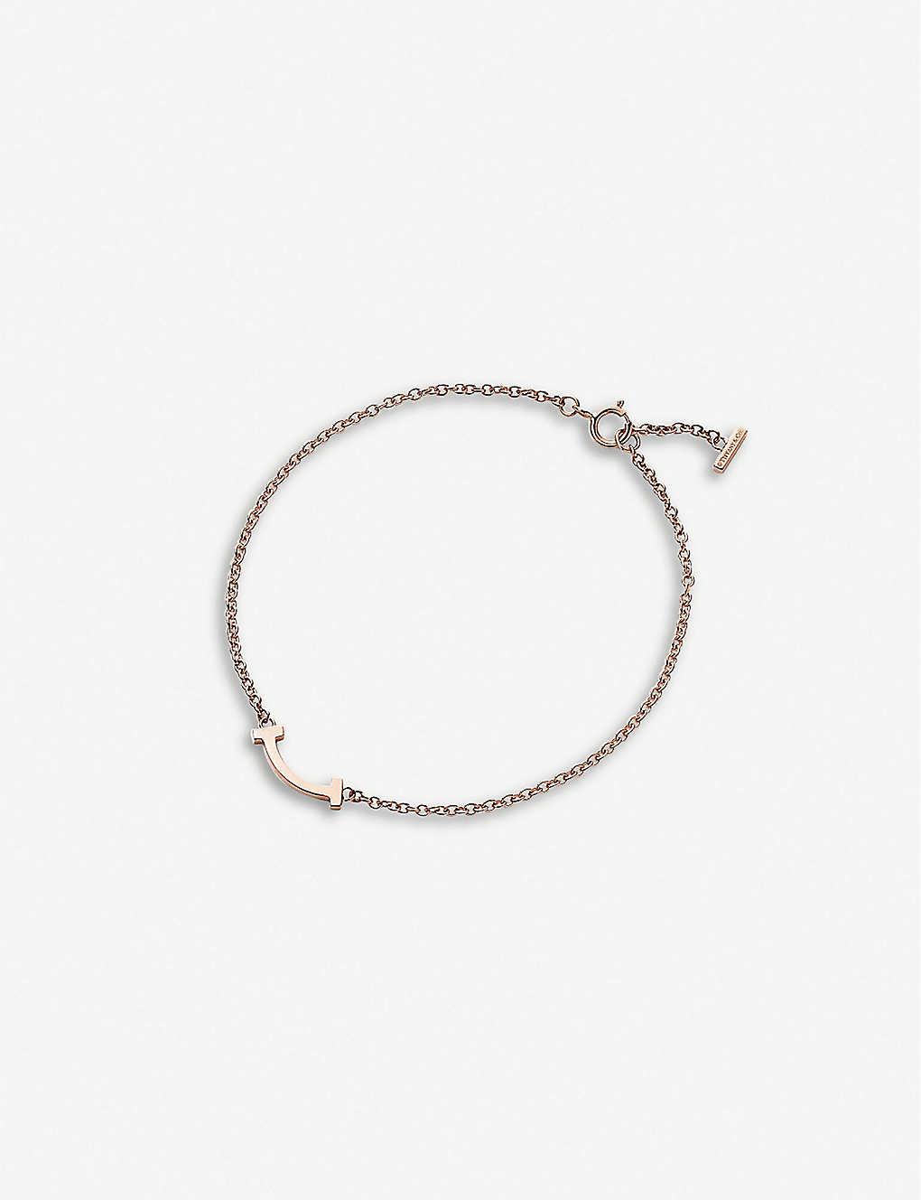 467e0770e TIFFANY & CO - Tiffany T Smile 18ct rose-gold bracelet | Selfridges.com