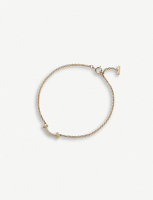 TIFFANY & CO Tiffany T Smile 18ct yellow-gold and diamond bracelet