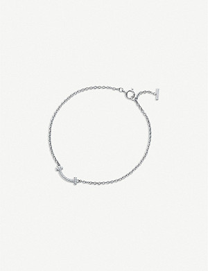 TIFFANY & CO Tiffany T Smile 18ct white-gold and diamond bracelet
