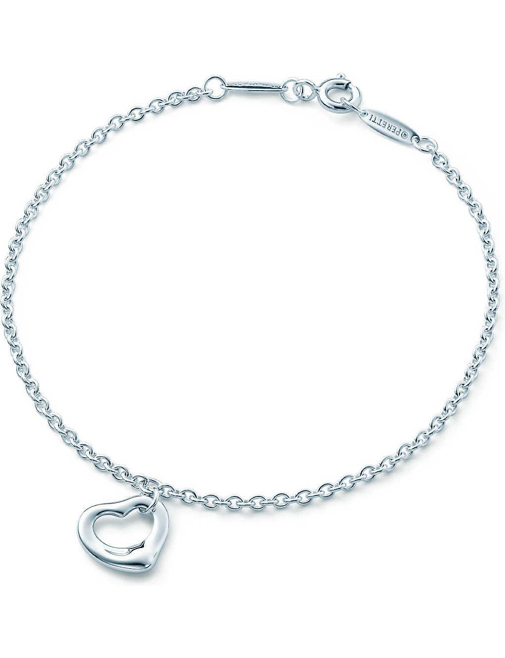 6dbf5f111 TIFFANY & CO - Elsa Peretti® Open Heart bracelet in sterling silver ...
