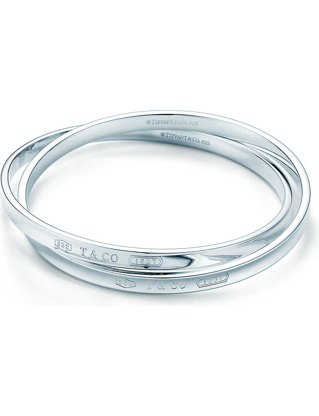 fdda395b9 TIFFANY & CO - Tiffany 1837 interlocking circles bangle in sterling ...