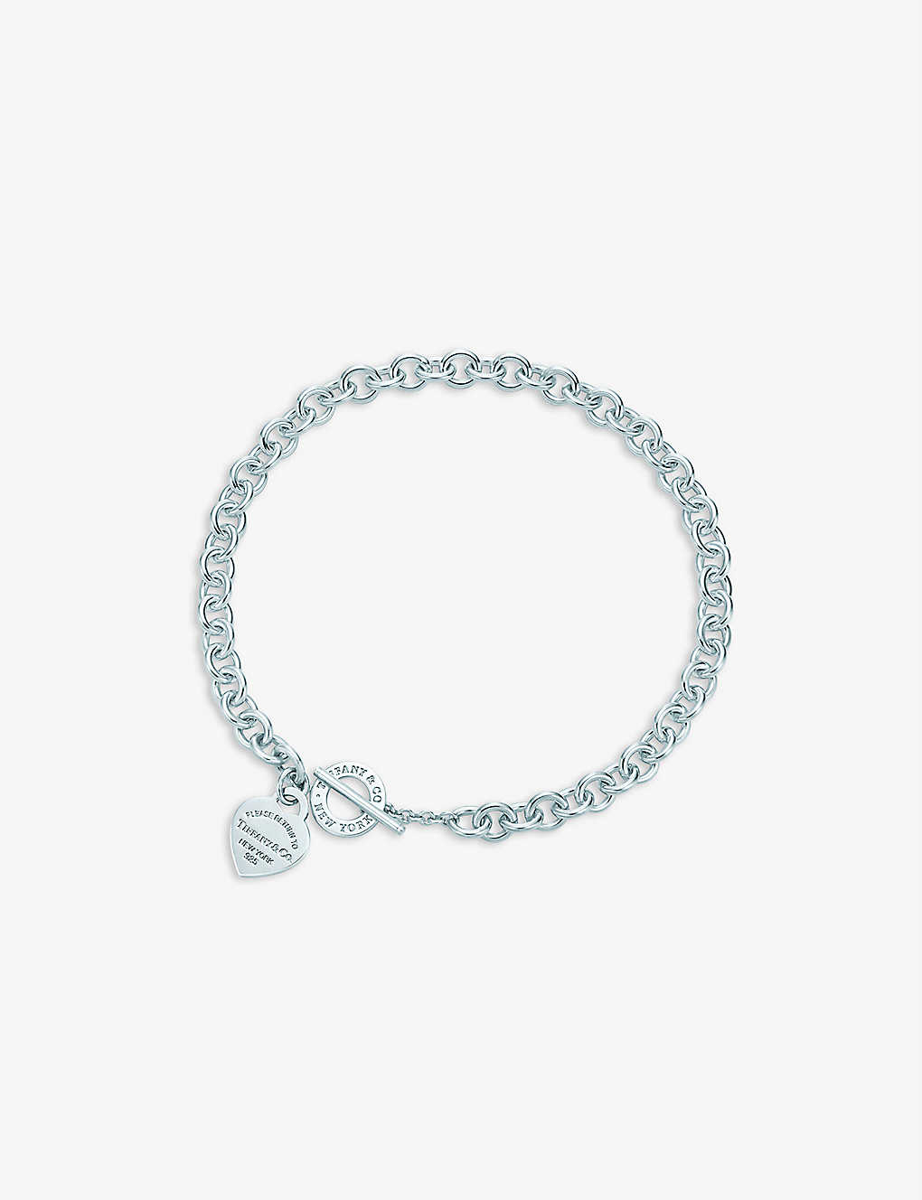 000ccdb5a TIFFANY & CO Return to Tiffany heart tag toggle necklace in sterling silver