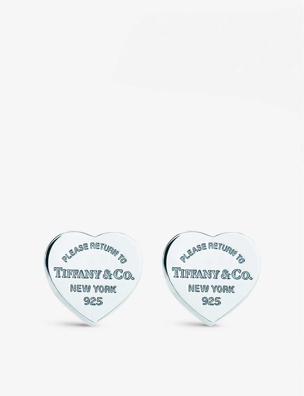 f8e3a6f69 TIFFANY & CO - Return to Tiffany mini heart tag earrings in sterling ...
