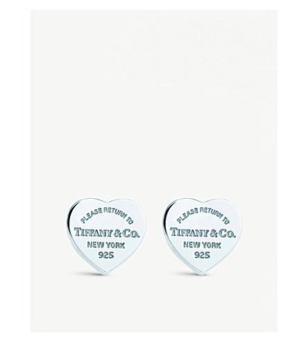 c98ef984892b TIFFANY   CO Return to Tiffany mini heart tag earrings in sterling silver