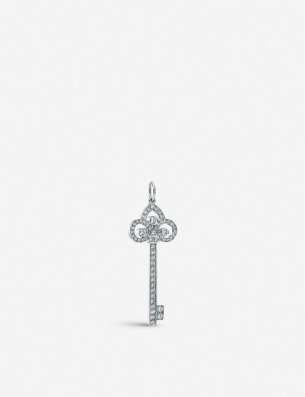 70ba99e4d TIFFANY & CO - Tiffany Keys fleur de lis key pendant in platinum ...