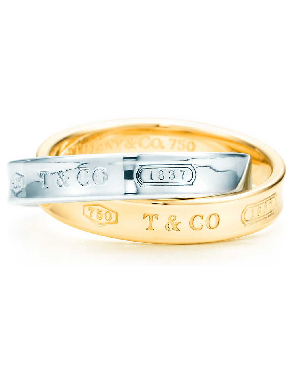 e0b2e7e20 Tiffany 1837 interlocking circles ring in 18k gold and sterling silver ...