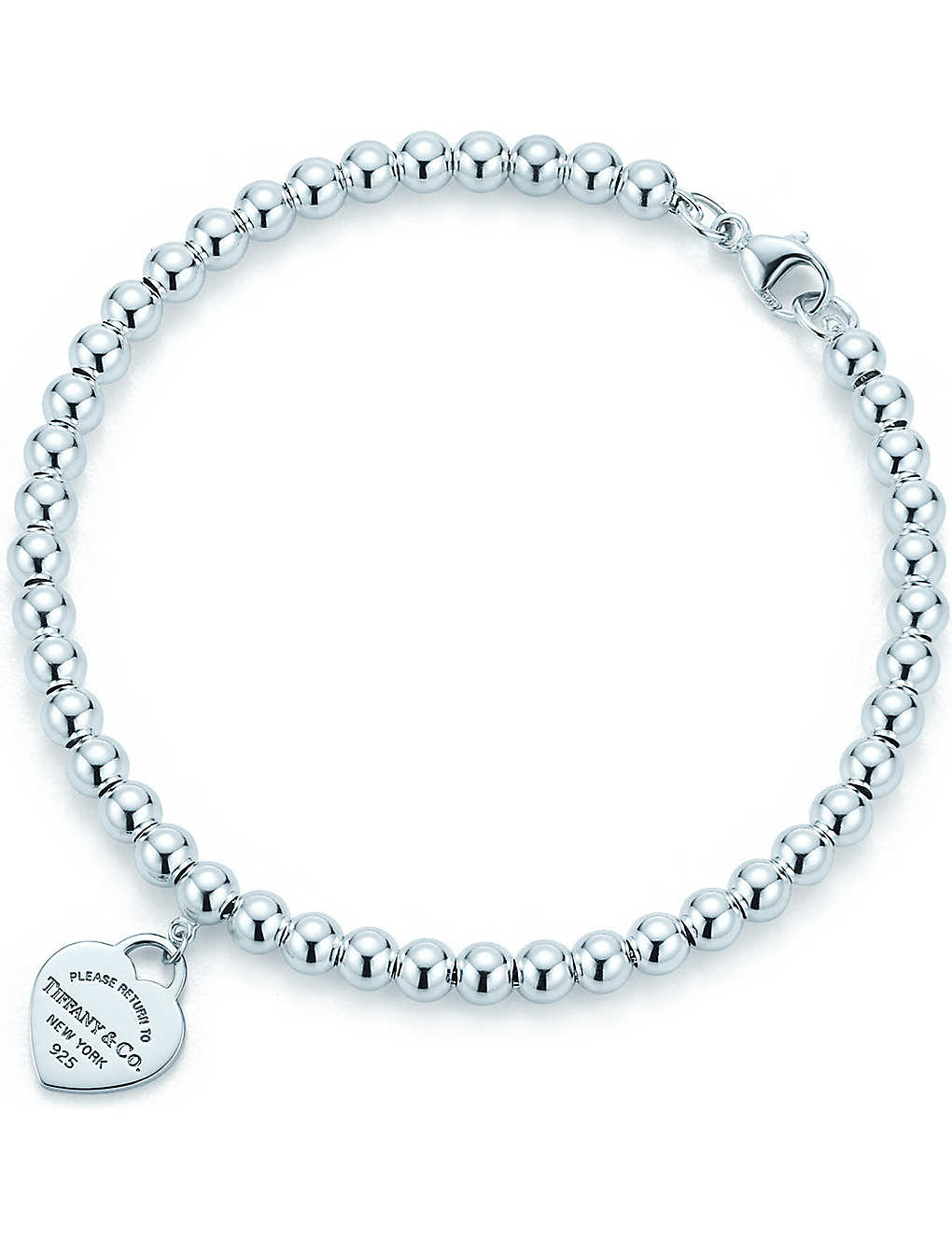 bbfce9707 TIFFANY & CO Return to Tiffany mini heart tag in sterling silver on a bead  bracelet