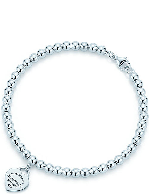 326b4a31ffc4 TIFFANY   CO Return to Tiffany mini heart tag in sterling silver on a bead  bracelet