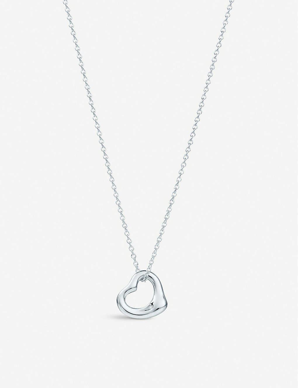 3edc66ed2 TIFFANY & CO - Elsa Peretti® Open Heart pendant in sterling silver ...