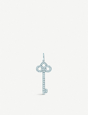 TIFFANY & CO Tiffany Keys Fleur de Lis platinum and diamond pendant