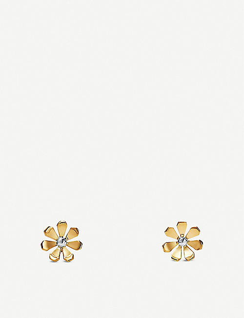 TIFFANY & CO Return to Tiffany Love Bugs Daisy 18ct yellow-gold and sterling silver earrings