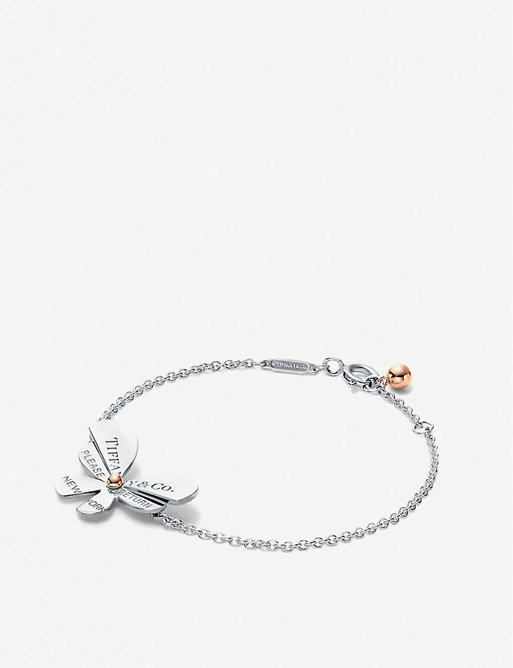 e55616933 Love Bugs sterling silver and 18ct rose-gold bracelet - Sterling silver gold  ...