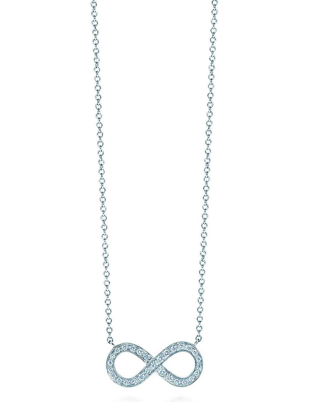 f5b7a2f8b TIFFANY & CO - Tiffany Infinity pendant in platinum with diamonds ...