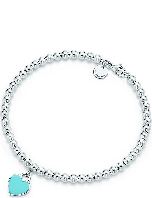 5731466a33ed TIFFANY   CO Return to Tiffany mini heart tag in sterling silver on a bead  bracelet