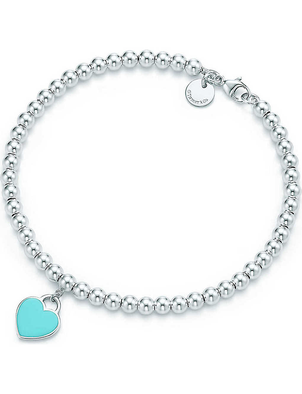 ab0c06910837 TIFFANY   CO - Return to Tiffany mini heart tag in sterling silver on a  bead bracelet