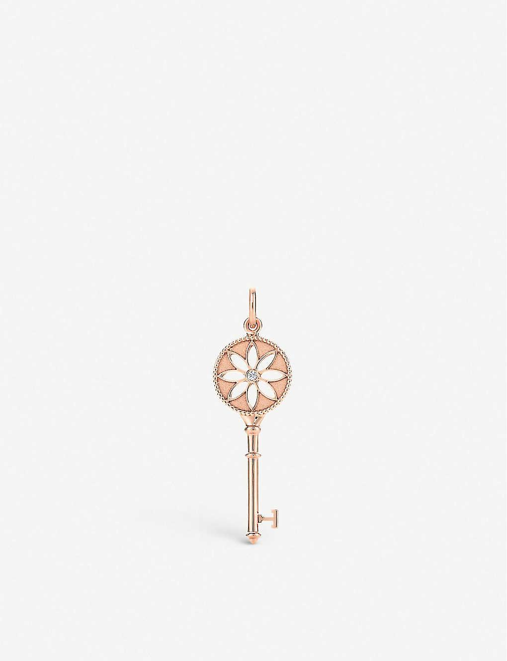 8e467f754 TIFFANY & CO - Tiffany Keys Daisy Key 18k rose gold and diamond ...