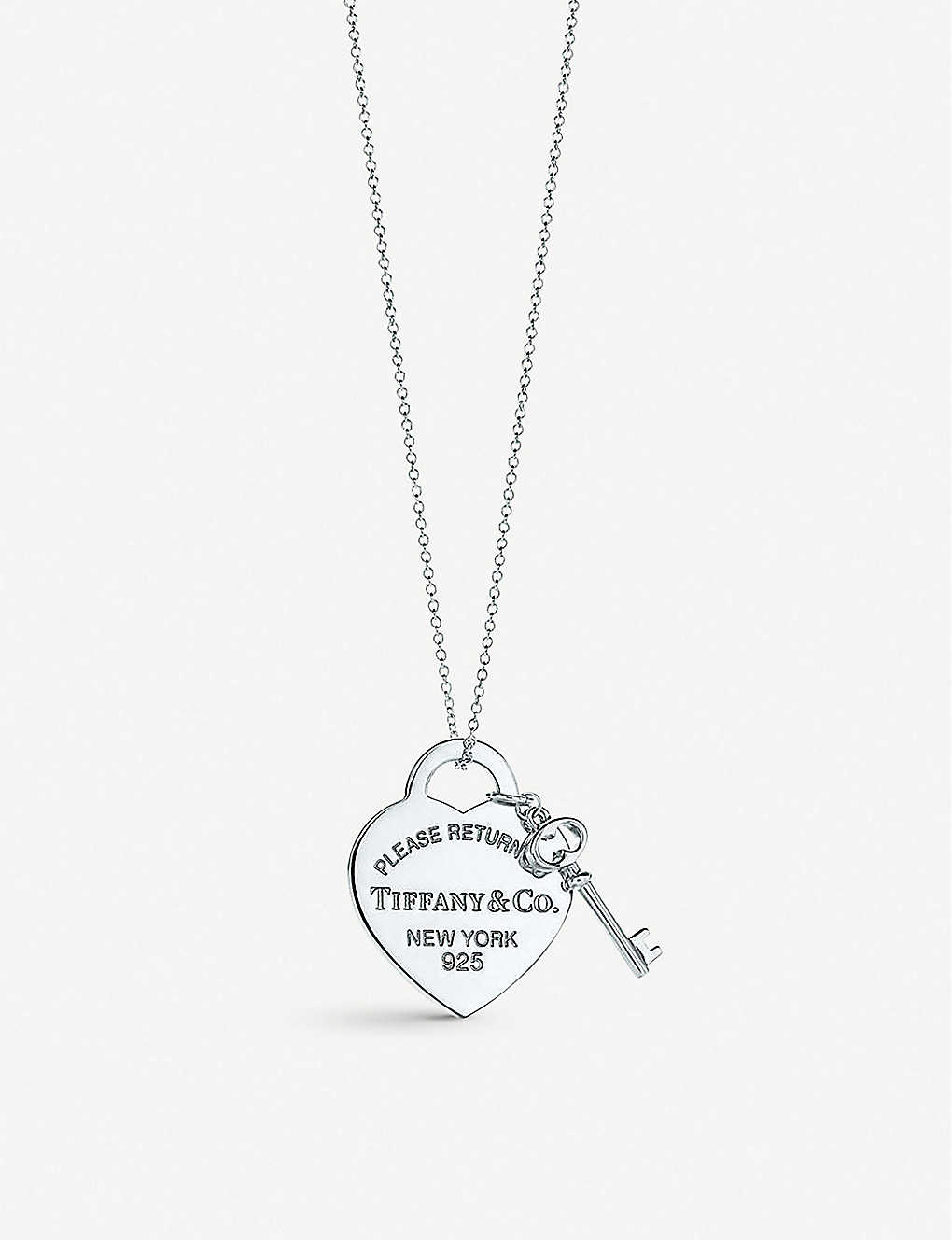 f43ce4d3e TIFFANY & CO Return to Tiffany heart tag with key pendant in sterling silver