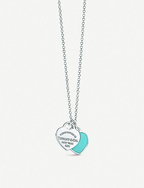 b2ce8977091d TIFFANY   CO Return to Tiffany Double Heart Tag Pendant in sterling silver
