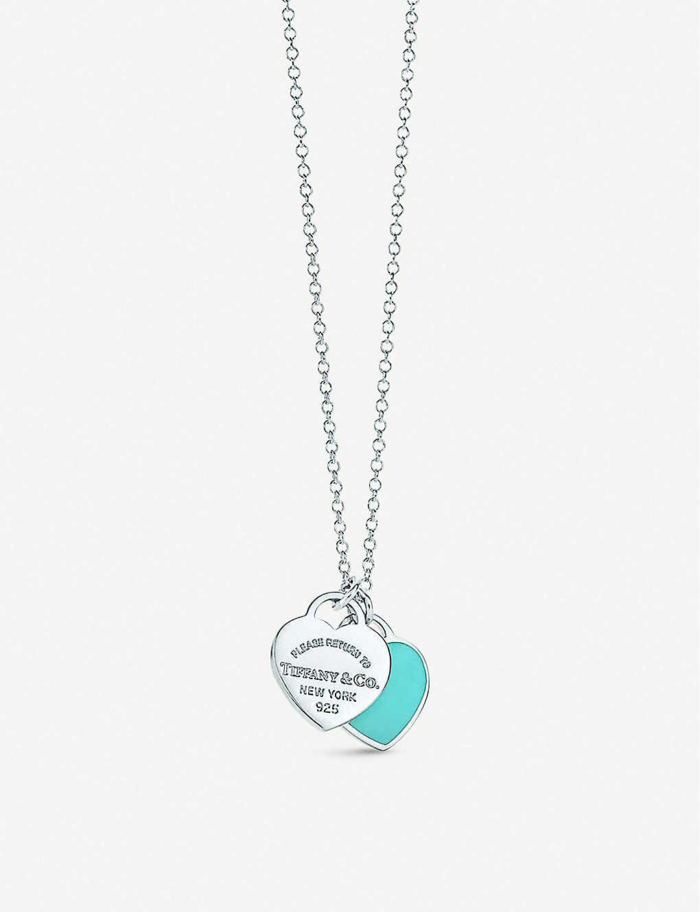 51f546a89 Return to Tiffany Double Heart Tag Pendant in sterling silver, mini ...