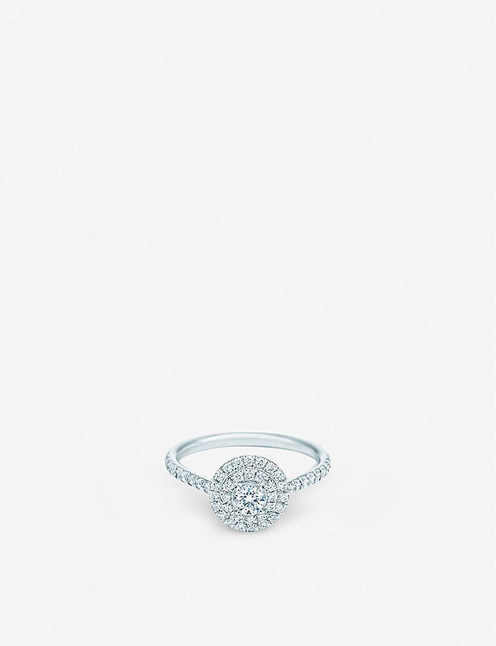 281c8717b TIFFANY & CO - Soleste ring in platinum with round brilliant ...