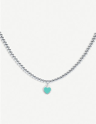 TIFFANY & CO: Return to Tiffany sterling silver heart pendant necklace