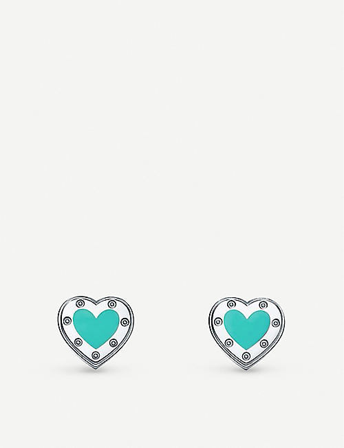 TIFFANY & CO: Return to Tiffany sterling silver heart earrings