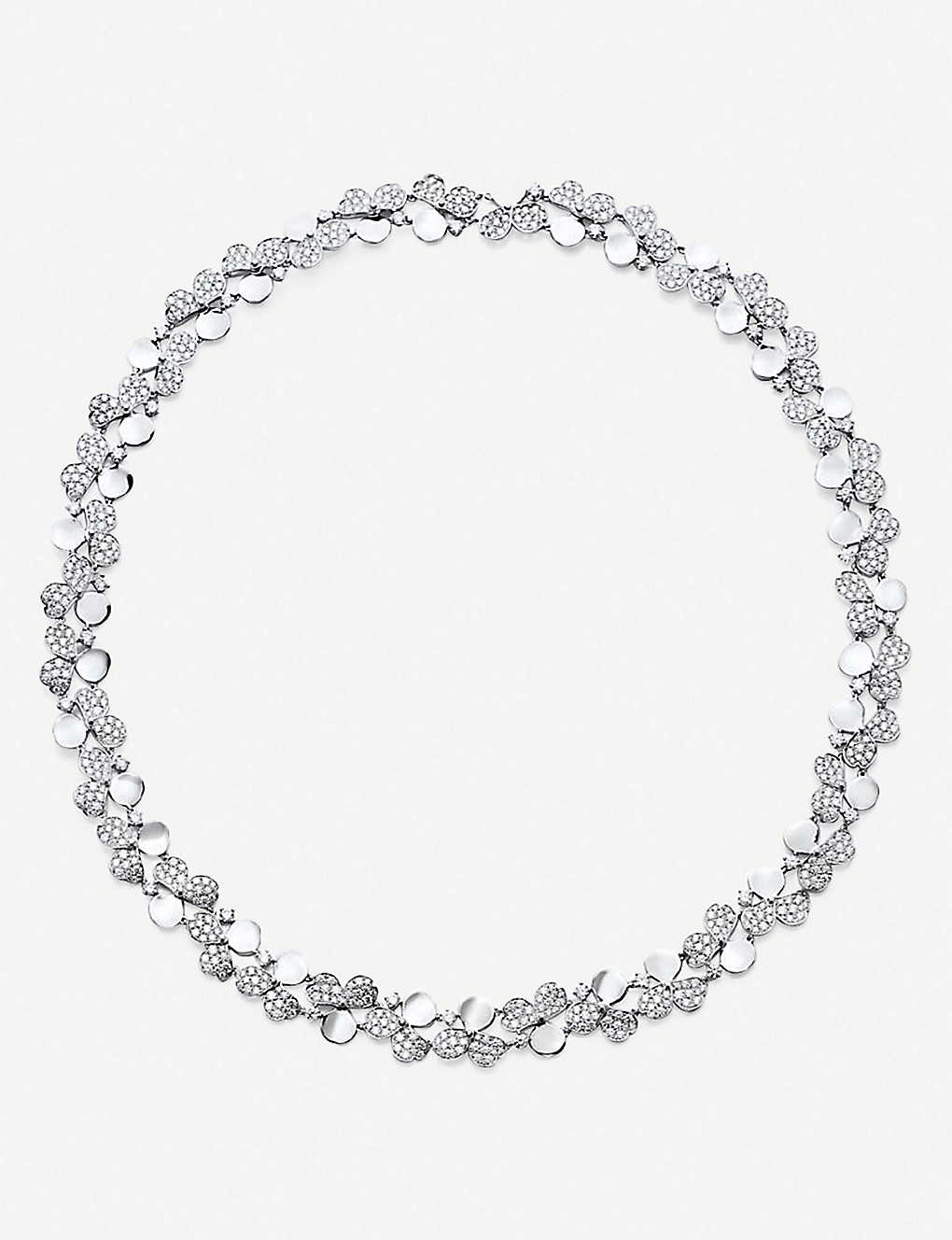 a6af7d267 TIFFANY & CO - Paper Flowers platinum and diamond floral necklace ...