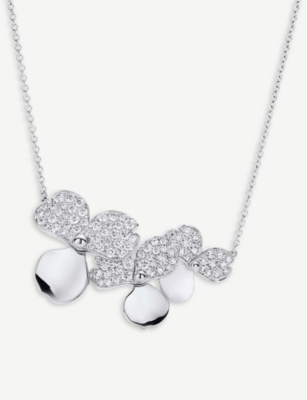 TIFFANY & CO Paper Flowers platinum and diamond necklace