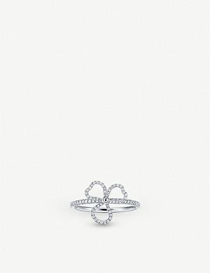 Tiffany Co Tiffany Soleste Platinum Aquamarine And Diamond Ring