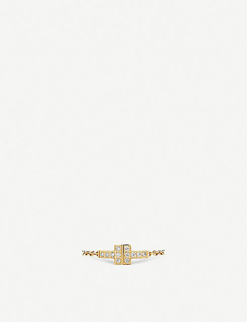 TIFFANY & CO Tiffany T Chain 18ct gold and diamond ring