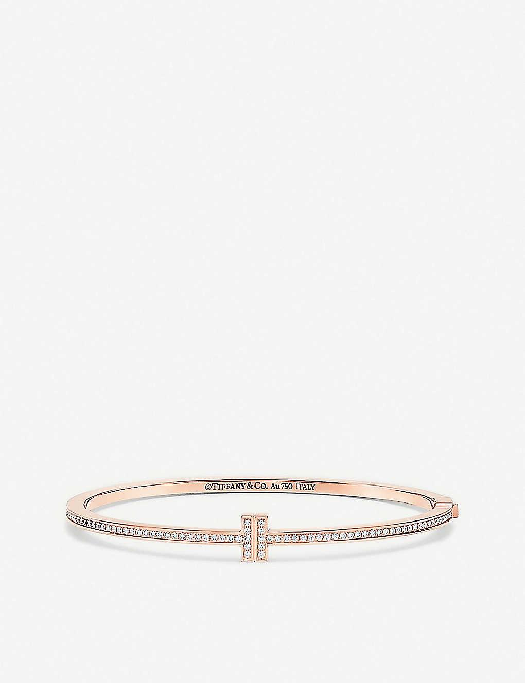 805131c1f107 TIFFANY   CO - Tiffany T Chain 18ct rose-gold and diamond hinged ...