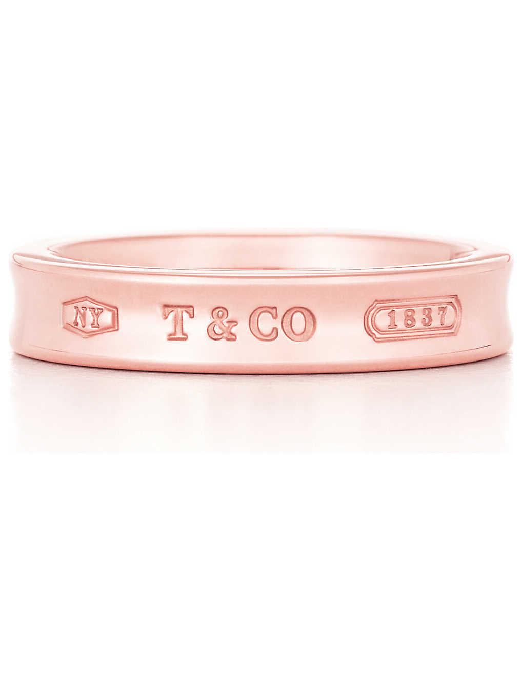 7a4917f1ad2 TIFFANY   CO - Tiffany 1837 narrow ring in RUBEDO metal