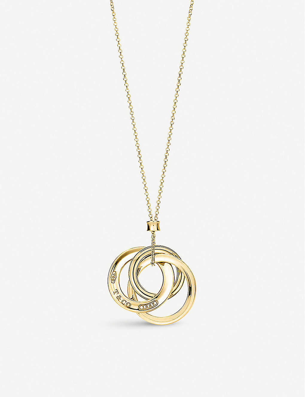 318487d94b482 TIFFANY & CO - Tiffany 1837 interlocking circles pendant in 18k gold ...