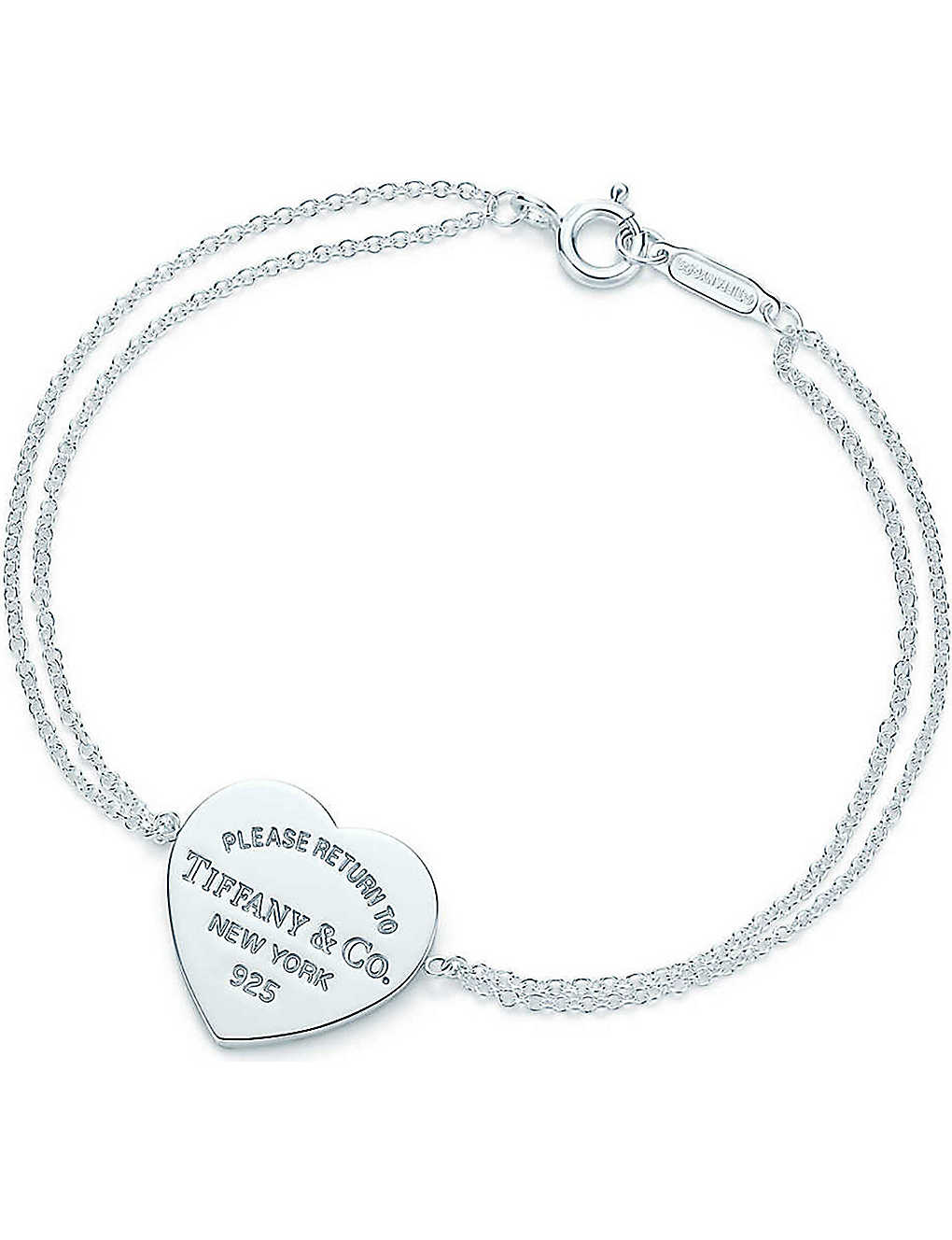 9028ee076 TIFFANY & CO - Return to Tiffany heart tag bracelet in sterling ...