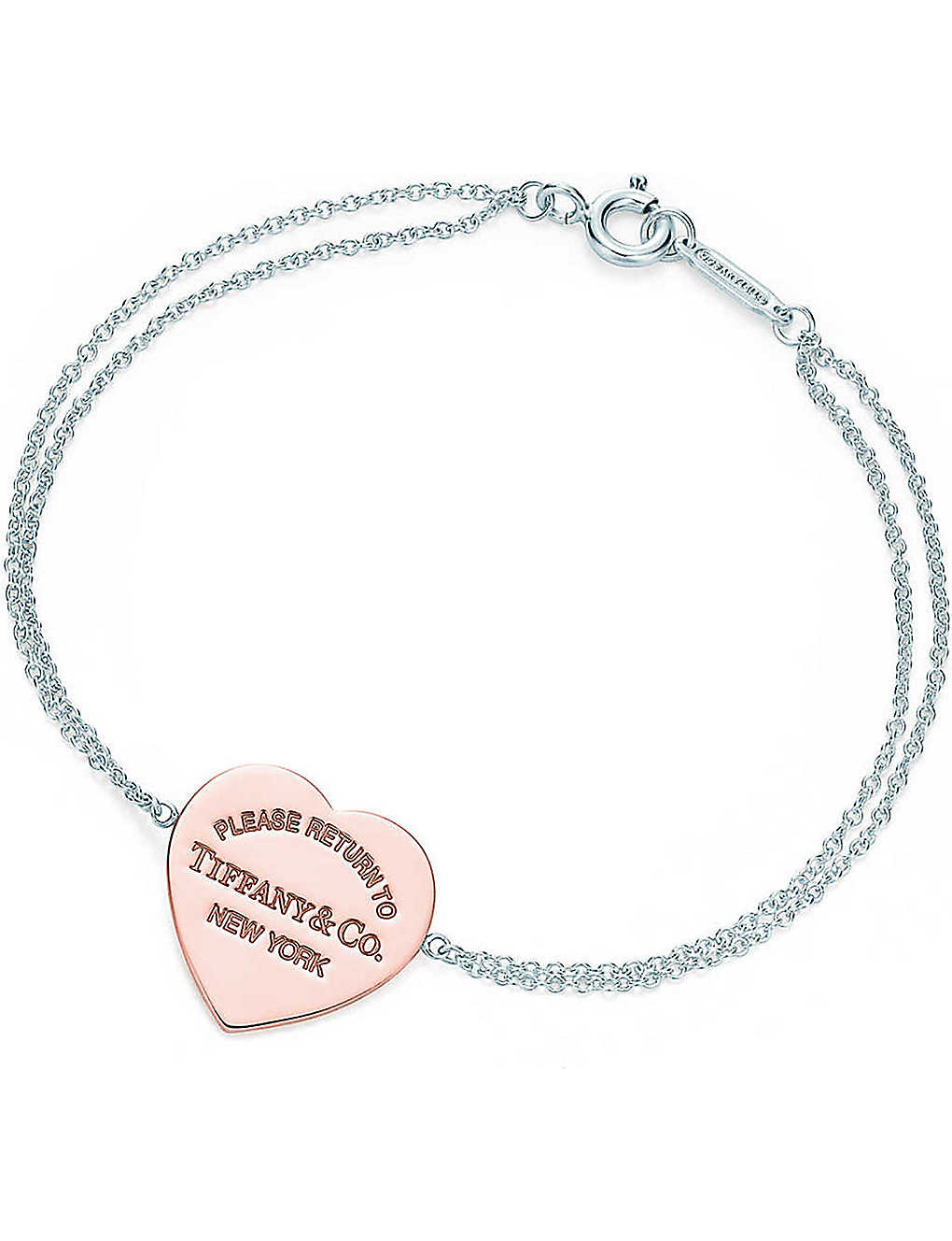 582ba7c4f Return to Tiffany heart bracelet in RUBEDO® metal and sterling silver ...