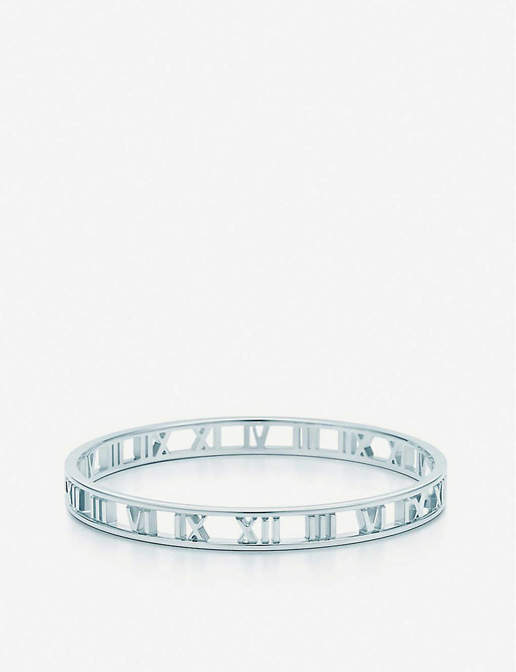 a7d26caad TIFFANY & CO - Atlas Roman numeral silver bangle   Selfridges.com
