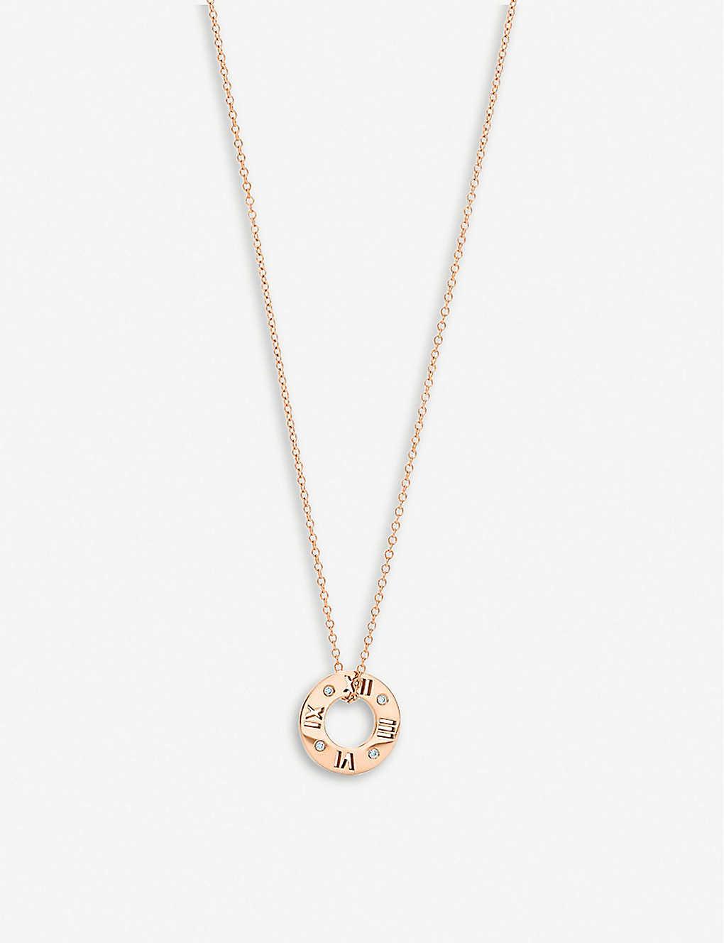 cd01de74f TIFFANY & CO - Atlas pierced disc 18ct rose-gold and diamond ring ...