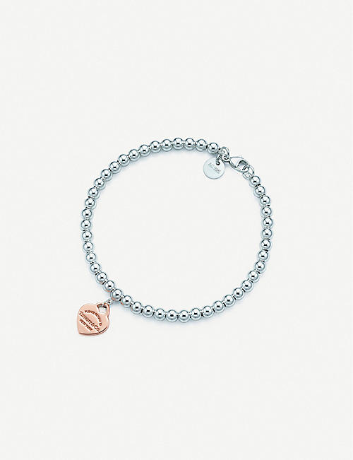TIFFANY & CO Return to Tiffany sterling-silver and rubedo bracelet
