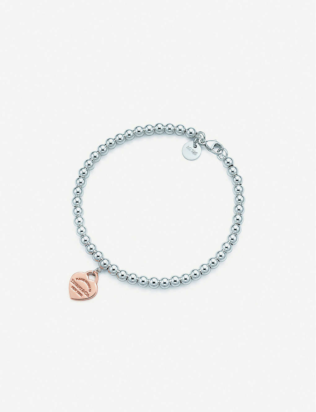 725fde132 TIFFANY & CO - Return to Tiffany sterling-silver and rubedo bracelet ...