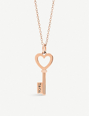 TIFFANY & CO Tiffany Keys 18ct rose-gold pendant
